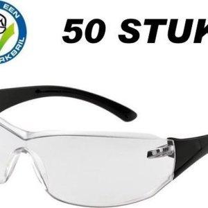 Vuurwerkbril Junior (50 stuks) - Vuurwerk Bril - Veiligheid - Veilig Vuurwerk Afsteken - Oogbescherming - Werkbril - Veiligheidsbril - Bescherm bril - Beschermbril