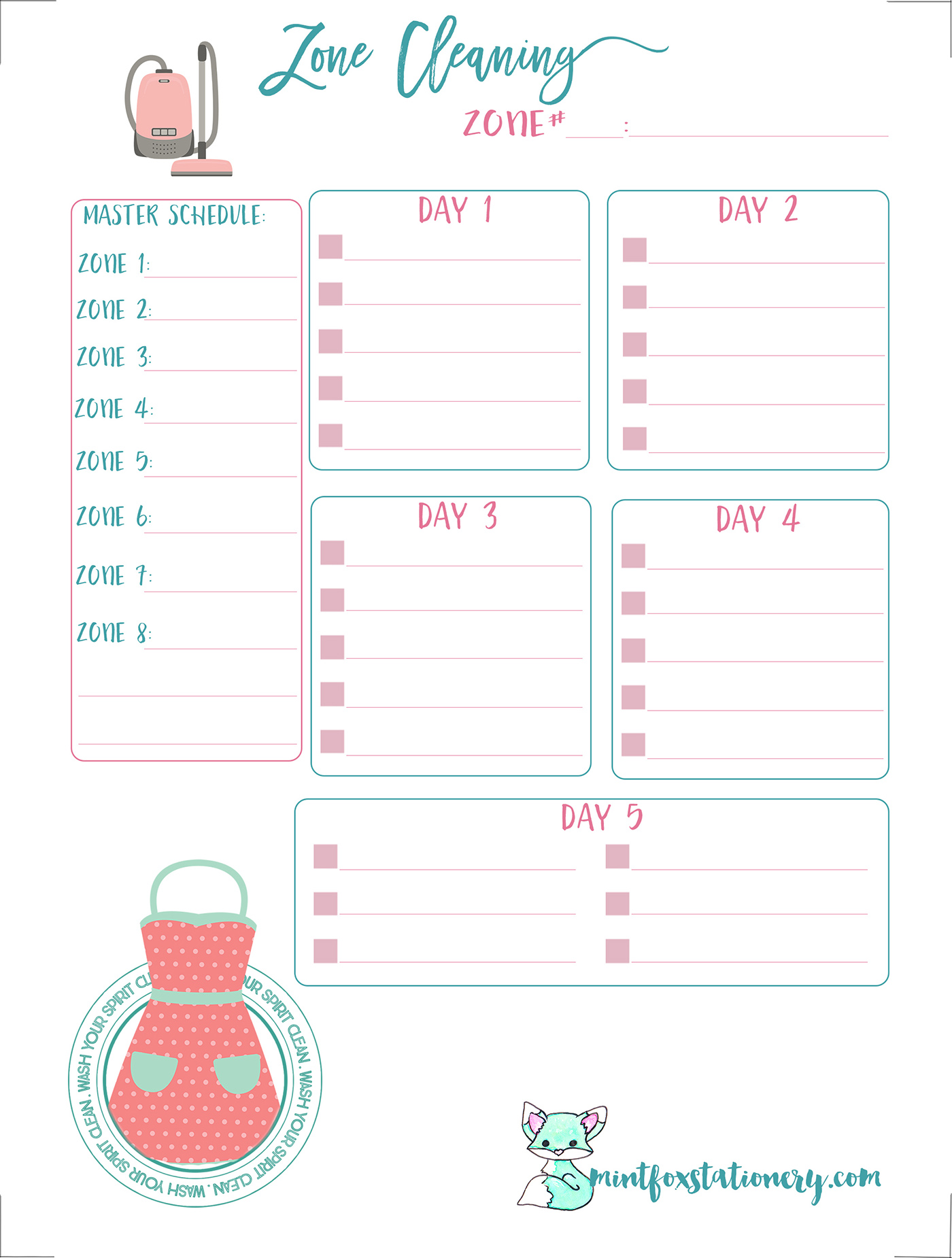 Printable Personal Planner Inserts