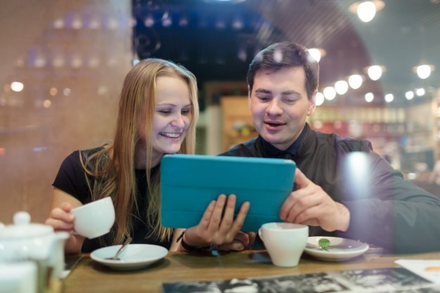 Having coffee together adds a warm positive note to both your discussion and work projects.