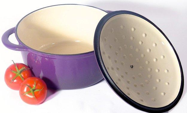Enamel Spiceberry Pot, Open