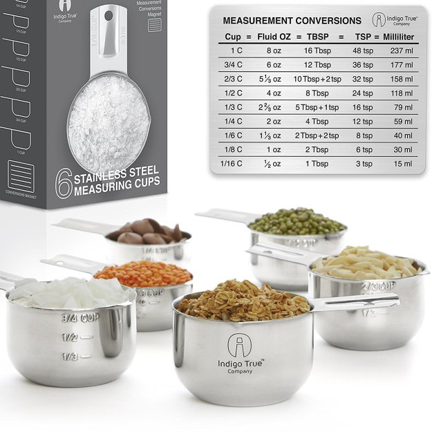 Stainless steel measuring cups - 6
