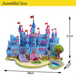 2015-New-3D-DIY-Funny-Puzzle-Educational-Toys-for-Children-House-Paper-Model-Blue-Castl-Toy