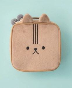 Fluffy animal makeup travel bag