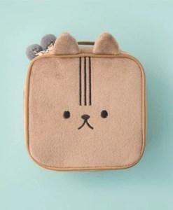 Fluffy animal makeup travel bag
