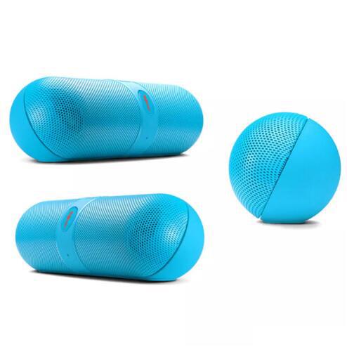 Pill Shaped Super Bass Speaker blue