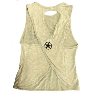 Crossback Tank Top Savage Barbell Army