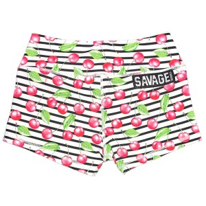Booty Shorts Savage Barbell Cherry Bomb