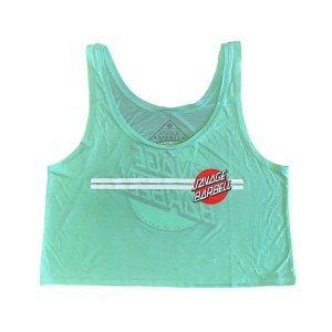 Savage Barbell Crop Top - Retro Savage - Summer Mint