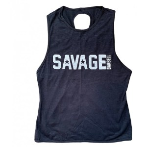 Crossback Tank Top Savage Barbell Black