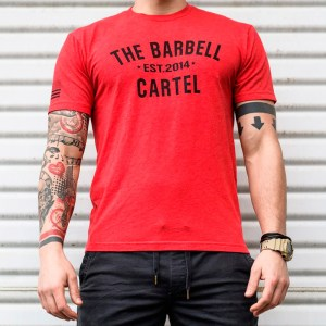 T-shirt The Barbell Cartel Classic Logo Red