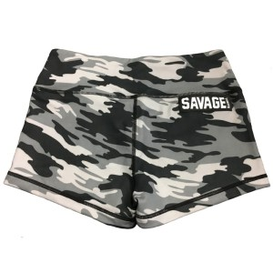 Booty Shorts Savage Barbell Gray Camo