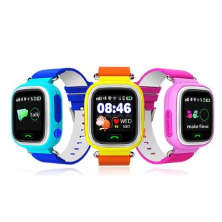 New Arrival Q90 GPS Phone Positioning Fashion Children Watch 1.22 Inch Color Touch Screen WIFI SOS Smart Watch