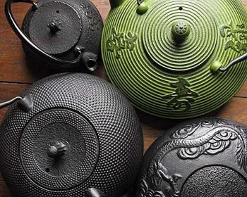 cast iron teapots & tetsubin