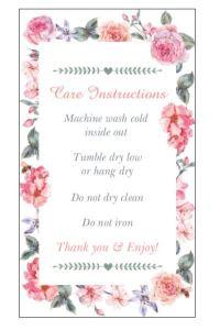 Flowers Care Card