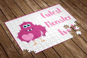 cutest monster ever puzzle