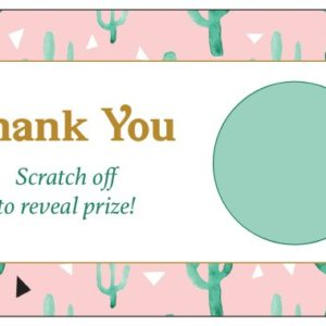Cactus Scratch Off Thank You Card
