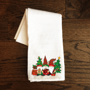 xmas gnome tea towel