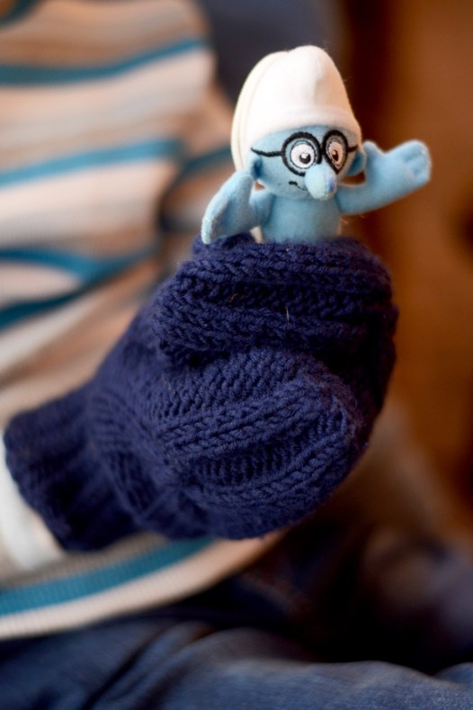 cozy knit mittens for boys by ShopLaLune