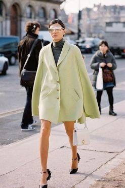 street look pistachio coat