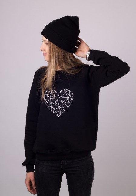 black sweater with heart by ShopLaLune
