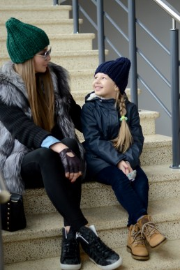 family-look knitted hats