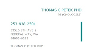 Petek Thomas C PhD