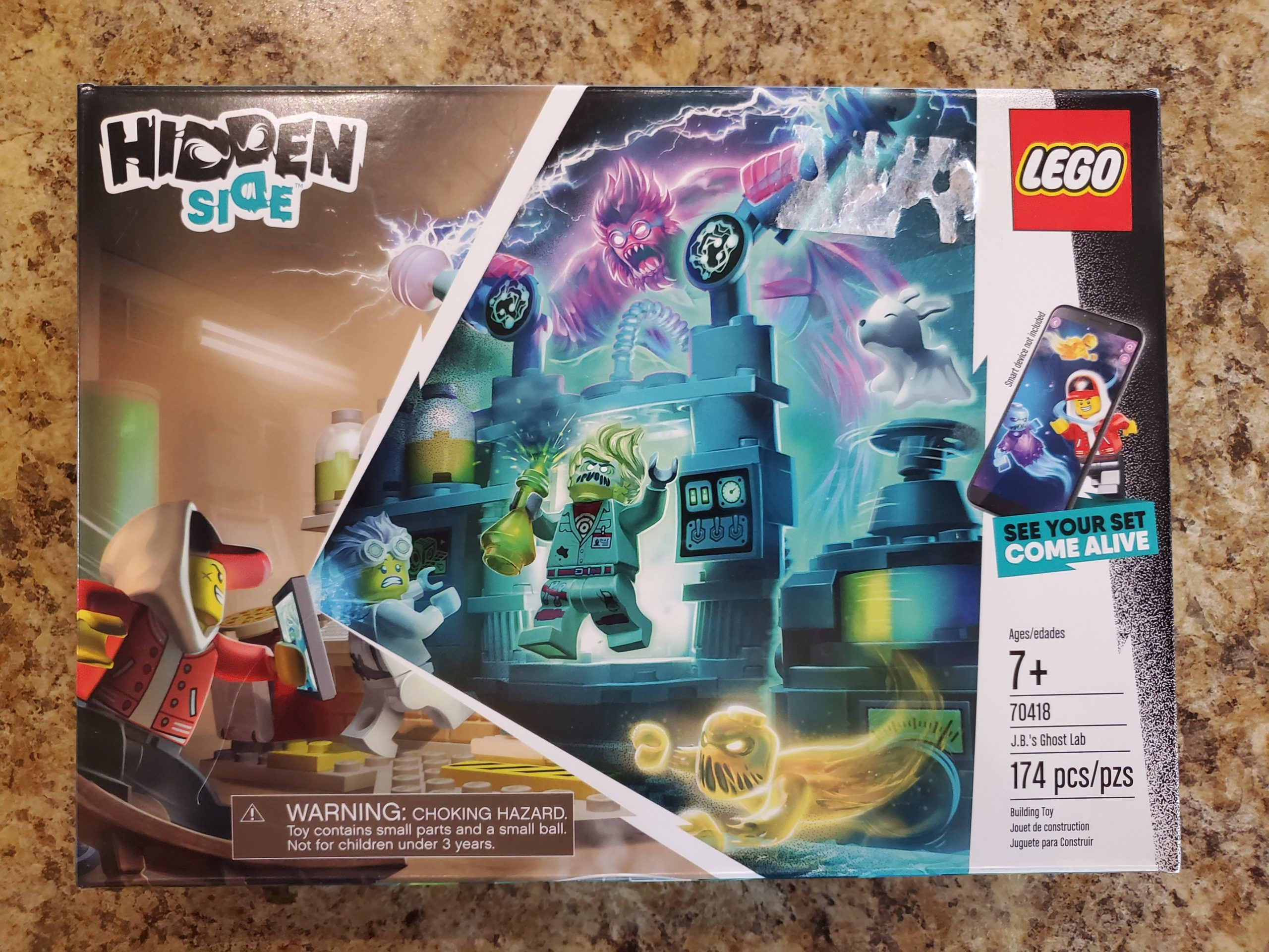 Lego 70418 The Hidden Side J.B./'s Ghost Lab Set With Interactive Games App NEW