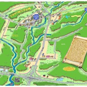 Covington Caricature Map