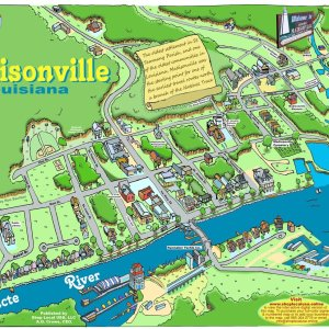 Madisonville Caricature Map