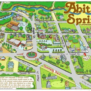 Abita Springs Caricature Map