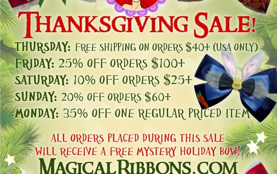 Thanksgiving Bow-out Sale!