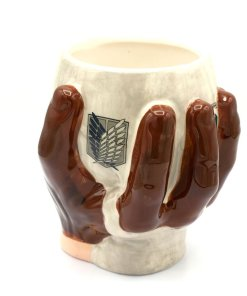 Coffee mug molded as the goblet from Attack on Titan