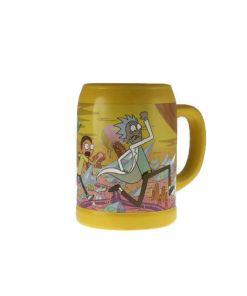 Rick and Morty ceramic glass mug