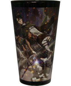 Attack on Titan pint glass