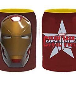 Iron Man Civil War coffee mug front and back