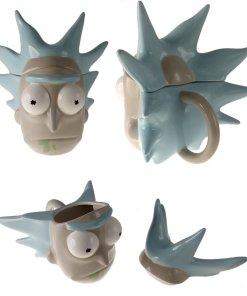 Coffee mug shaped like Rick's head from Rick and Morty