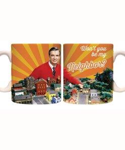 Mr Rogers neighborhood coffee mug front and back
