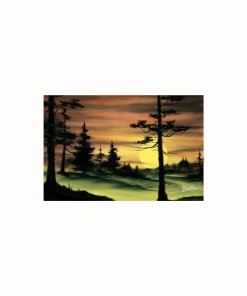 Bob Ross Susnet painting tapestry