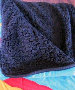 Back side of Mr Rogers sherpa blanket
