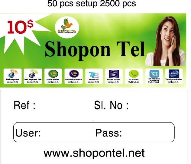 Shopon Tel Calling Card