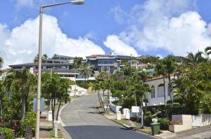 The homes in the gated community of Hawaii Loa Ridge.
