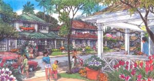 This rendering shows a view of the village at Castle & Cooke's Koa Ridge project