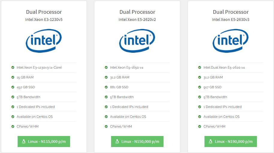 Qservers Dedicated Server pricing