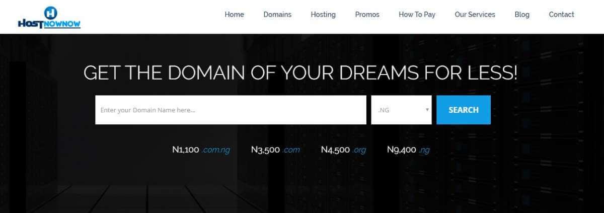 Hostnownow domain registration