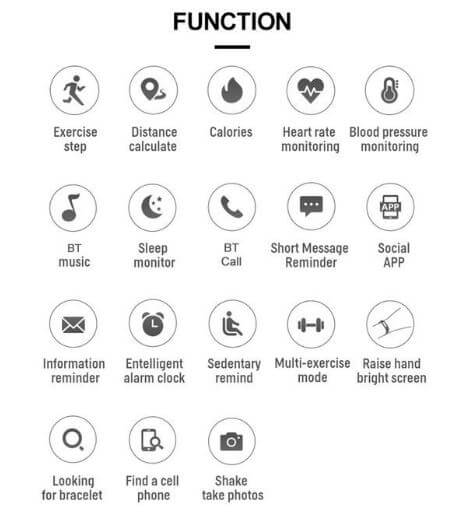 T500 Smartwatch Function