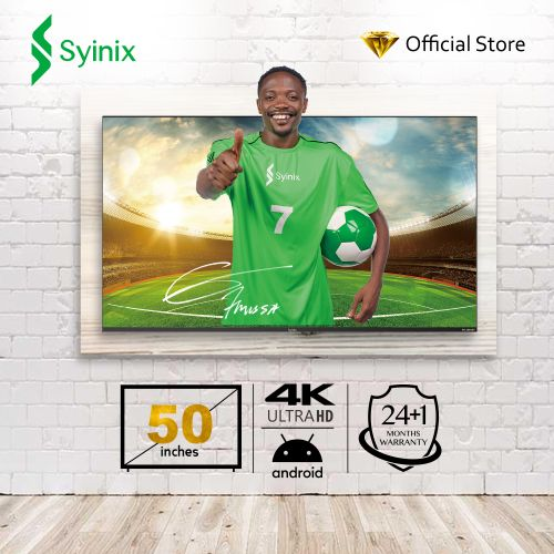 "50"" Inch Android 4K UHD Smart LED TV - 50A710U- Black"