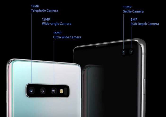 Samsung Galaxy S10 plus camera specs