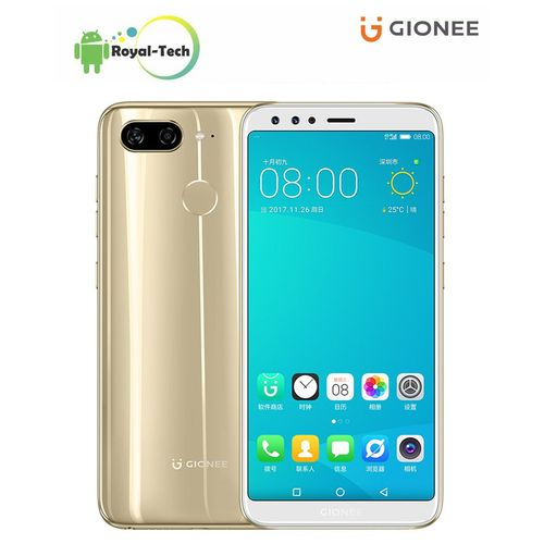 S11 Lite 5.7-Inch HD (4GB,64GB ROM) Android 7.1 (13MP + 2MP) + 16MP Dual SIM 4G LTE Fingerprint ID Smartphone - Gold