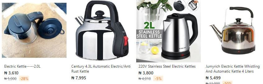 Electric Kettle Pricing
