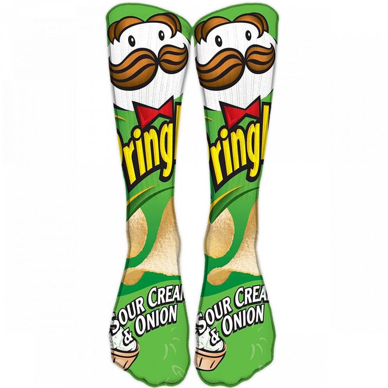 Unisex Long Food Printed Socks